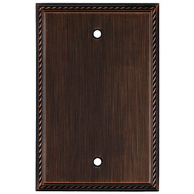 allen + roth 1-Gang Oil-Rubbed Bronze Blank Metal Wall Plate