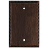 allen + roth 1-Gang Oil Rubbed Bronze Blank Metal Wall Plate