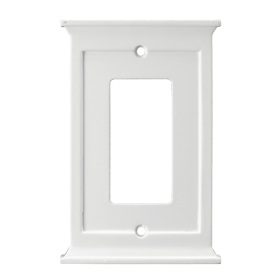 allen + roth 1-Gang White Decorator Wood Wall Plate