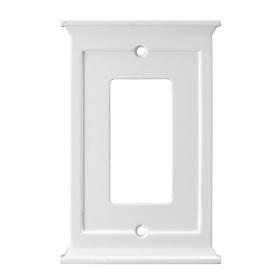 allen + roth 1-Gang White Decorator Rocker Wood Wall Plate