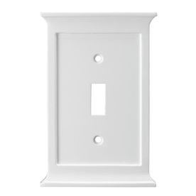 allen + roth 1-Gang White Standard Toggle Wood Wall Plate
