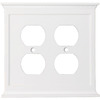 allen + roth 2-Gang White Standard Duplex Receptacle Metal Wall Plate