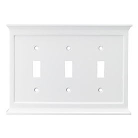 allen + roth 3-Gang White Toggle Wall Plate