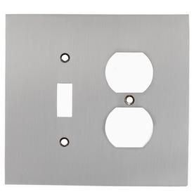 allen + roth 2-Gang Satin Nickel Wall Plate