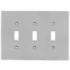 allen + roth 3-Gang Satin Nickel Standard Toggle Metal Wall Plate