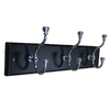 MDF and Zinc Alloy Die Cast 3-Hook Garment Rail