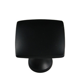 allen + roth 1.36-in Matte Black Square Cabinet Knob