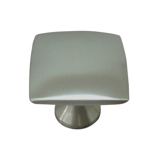 Allen roth square cabinet knob in matte black nickel at for Square kitchen cabinet knobs
