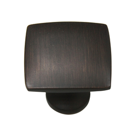 allen + roth 1.36-in Aged Bronze Square Cabinet Knob