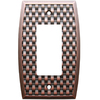 allen + roth 1-Gang Dark Oil-Rubbed Bronze Decorator Rocker Metal Wall Plate