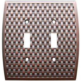 allen + roth 2-Gang Dark Oil-Rubbed Bronze Toggle Wall Plate
