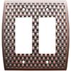 allen + roth 2-Gang Dark Oil-Rubbed Bronze Decorator Metal Wall Plate