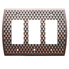allen + roth 3-Gang Dark Oil-Rubbed Bronze Decorator Rocker Metal Wall Plate