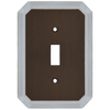 allen + roth 1-Gang Dark Oil-Rubbed Bronze and Satin Nickel Standard Toggle Metal Wall Plate