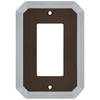 allen + roth 1-Gang Dark Oil-Rubbed Bronze and Satin Nickel Decorator Rocker Metal Wall Plate
