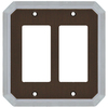 allen + roth 2-Gang Dark Oil-Rubbed Bronze and Satin Nickel Decorator Rocker Metal Wall Plate