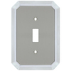 allen + roth 1-Gang Satin Nickel and Polished Chrome Standard Toggle Metal Wall Plate
