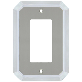 allen + roth 1-Gang Satin Nickel and Polished Chrome Decorator Metal Wall Plate