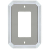 allen + roth 1-Gang Satin Nickel and Polished Chrome Decorator Rocker Metal Wall Plate