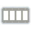 allen + roth 4-Gang Satin Nickel and Polished Chrome Decorator Rocker Metal Wall Plate