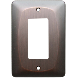 allen + roth 1-Gang Dark Oil-Rubbed Bronze Decorator Metal Wall Plate