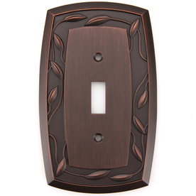 allen + roth 1-Gang Dark Oil-Rubbed Bronze Standard Toggle Metal Wall Plate