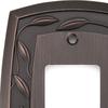 allen + roth 1-Gang Dark Oil-Rubbed Bronze Decorator Rocker Metal Wall Plate