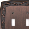 allen + roth 2-Gang Dark Oil-Rubbed Bronze Standard Toggle Metal Wall Plate