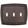 allen + roth 3-Gang Dark Oil-Rubbed Bronze Standard Toggle Metal Wall Plate