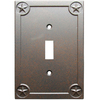 allen + roth 1-Gang Rust Standard Toggle Metal Wall Plate
