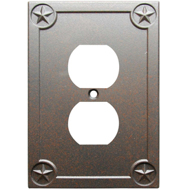 allen + roth 1-Gang Rust Round Wall Plate