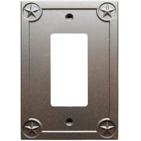 Style Selections 1-Gang Rust Decorator Metal Wall Plate