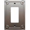 Style Selections 1-Gang Rust Decorator Rocker Metal Wall Plate