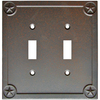 Style Selections 2-Gang Rust Standard Toggle Metal Wall Plate