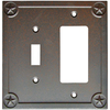 allen + roth 2-Gang Rust Decorator Single Receptacle Metal Wall Plate
