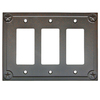 allen + roth 3-Gang Rust Decorator Rocker Metal Wall Plate