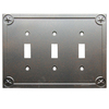 Style Selections 3-Gang Rust Standard Toggle Metal Wall Plate