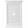 allen + roth 1-Gang White Coax Wood Wall Plate