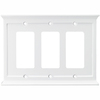 allen + roth 3-Gang White Decorator Rocker Wood Wall Plate