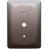 allen + roth 1-Gang Dark Oil-Rubbed Bronze Coax Metal Wall Plate