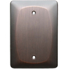 allen + roth 1-Gang Dark Oil-Rubbed Bronze Blank Metal Wall Plate