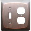 allen + roth 2-Gang Dark Oil-Rubbed Bronze Wall Plate