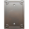 Style Selections 1-Gang Rust Blank Metal Wall Plate