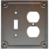 Style Selections 2-Gang Rust Combination Metal Wall Plate