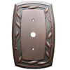 allen + roth 1-Gang Dark Oil-Rubbed Bronze Coaxial Metal Wall Plate