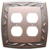 allen + roth 2-Gang Dark Oil-Rubbed Bronze Standard Duplex Receptacle Metal Wall Plate