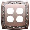 allen + roth 2-Gang Dark Oil-Rubbed Bronze Standard Duplex Receptacle Metal Wall Plate