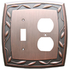 allen + roth 2-Gang Dark Oil-Rubbed Bronze Combination Metal Wall Plate