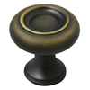 allen + roth 1-1/4-in Aged Brass Round Cabinet Knob