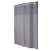 Hookless Polyester Gray Solid Shower Curtain